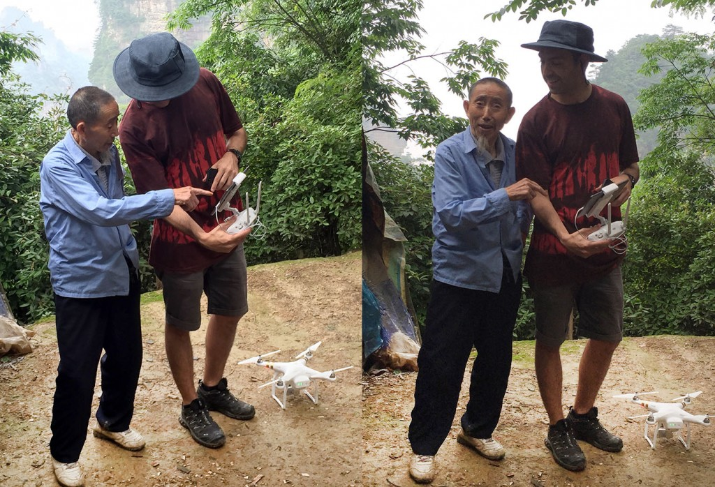 Filming wulingyuan drone