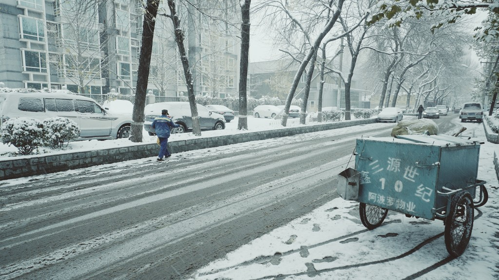 Beijing street snow