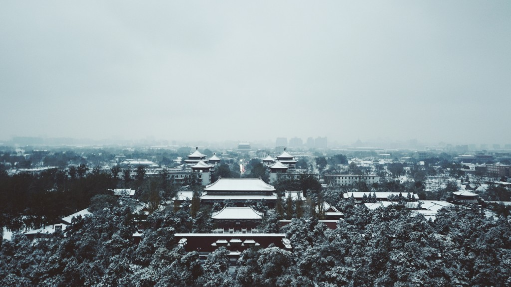 Beijing sight snowing