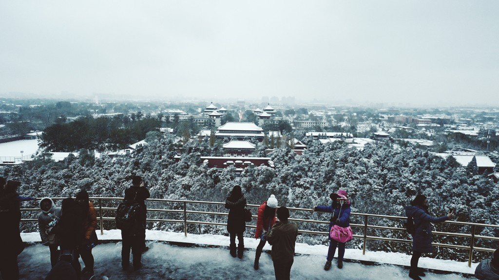 Chinese tourist snow