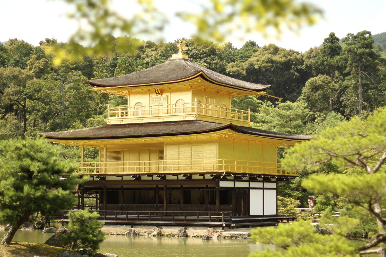 kinkaku-ji the famed golden pavilion