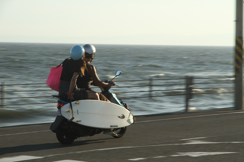 Kamakura couple in scooter