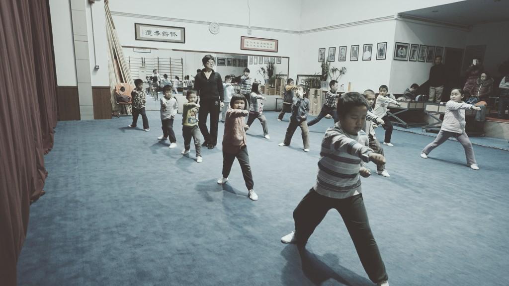 Lu Yan Wushu class kids
