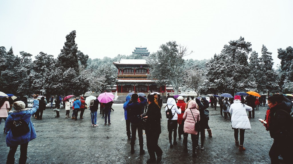 Jingshan park Bejing snow