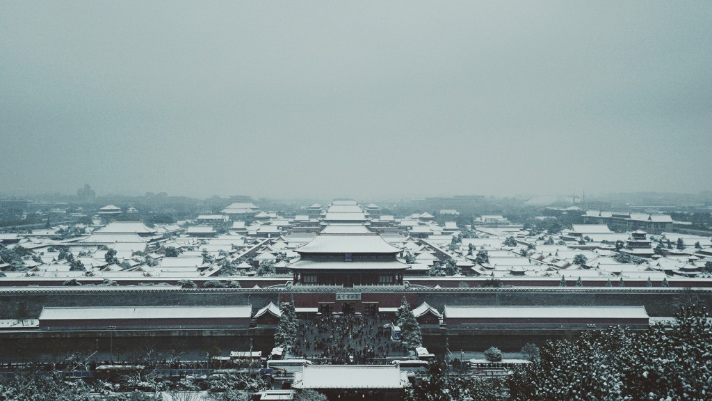 Tiannanmen Forbidden city snow