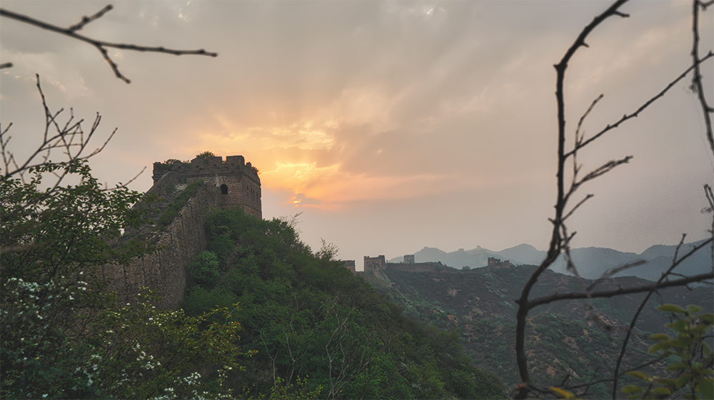 sun set great wall