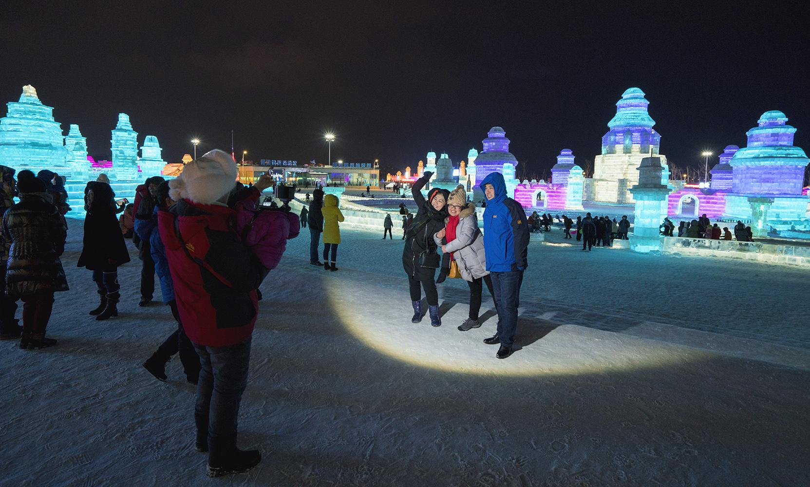 harbin ice festival night
