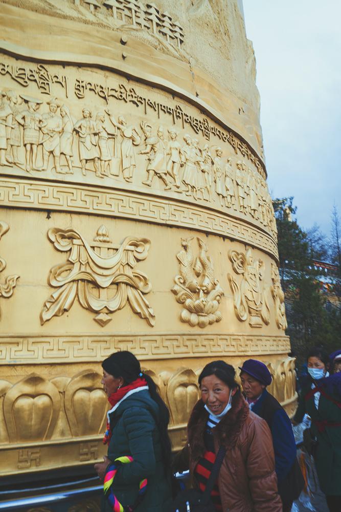 giant praying wheel
